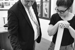 Tipps vom Lehrmeister Jens Mantke an seine Auszubildende