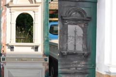 Restauration einer Haustür nach einem Brand