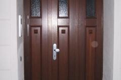 Neubau einer Eingangstür mit Kasetten-Füllung
